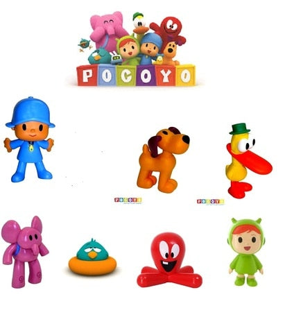FIGURE POCOYO COMANSI and BULLYLAND ELLIY ,LOULA, Duck, FOR CHILDREN CUMPLEAÑO gift