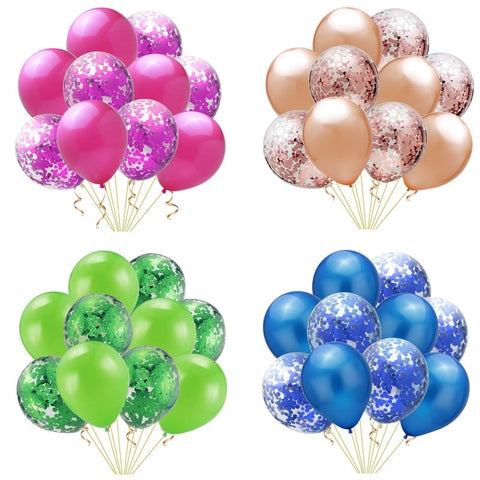 20pcs/lot 12 inch Confetti Latex Balloons Inflatable Ball Toy Kids Baby Birthday Party Wedding Decoration Balloons Cartoon Hat T