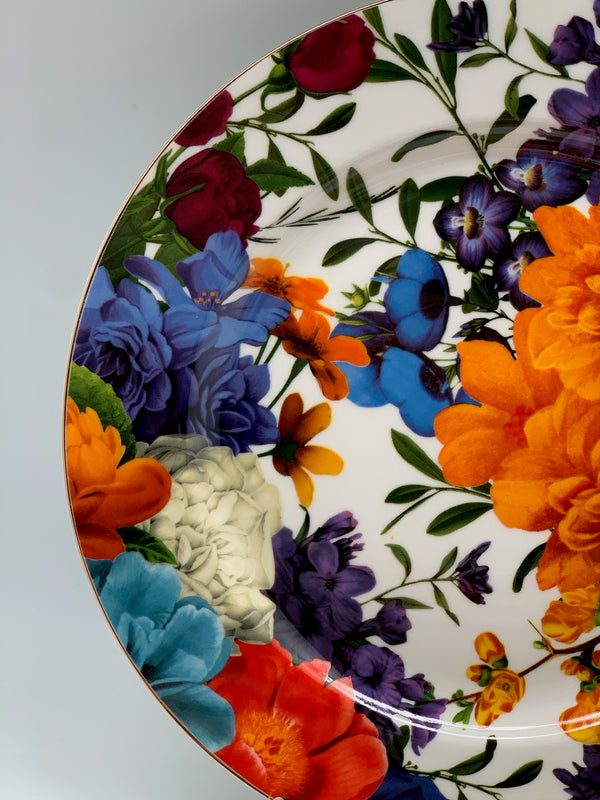 Floral Serving Plate Set - 27 cm