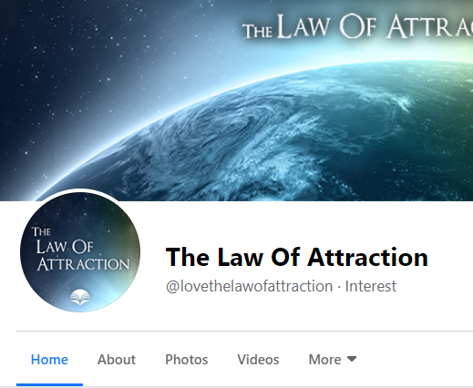 FANPAGE: The Law of  Attraction (15.9k leads)