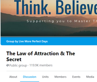 GROUP: The Law of  Attraction & The Secret (6.7k leads)