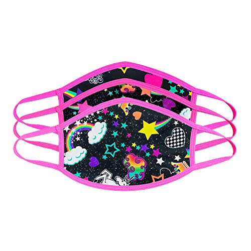 Girl Unicorn Black Face Mask