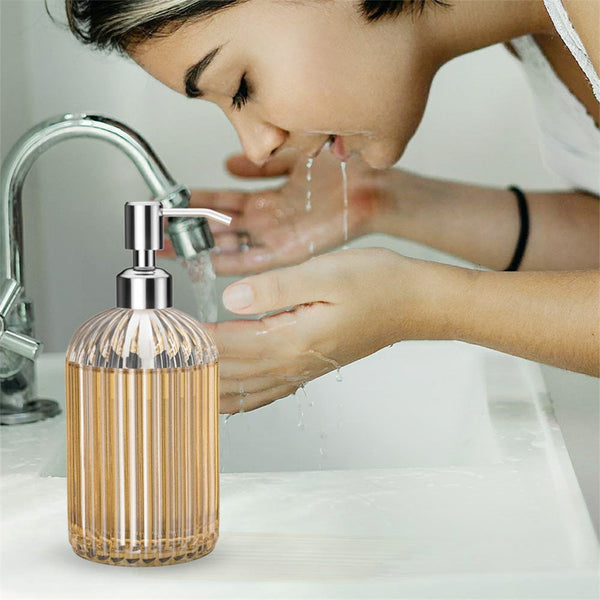 Soap Dispenser Clear Glass Hand Sanitizer
