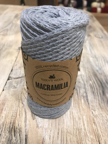 Macramilia Cotton Macrame - אפור בהיר
