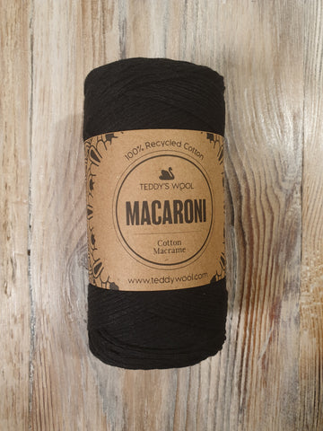 Macaroni Cotton Macrame - שחור