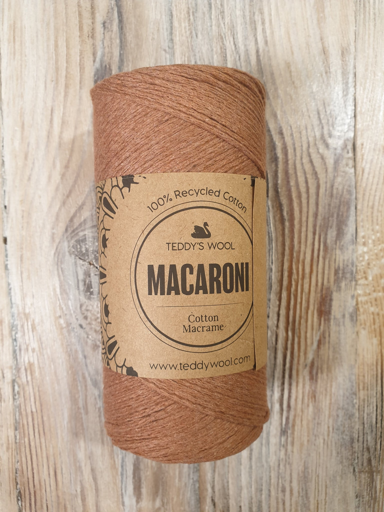 Macaroni Cotton Macrame - חום ורדרד