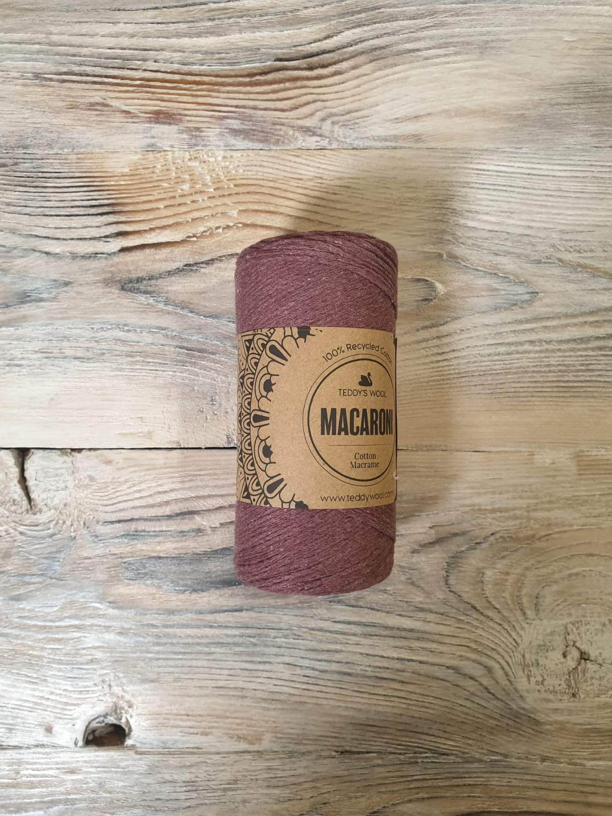 Macaroni Cotton Macrame - סגול חציל