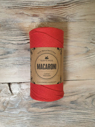 Macaroni Cotton Macrame - אדום