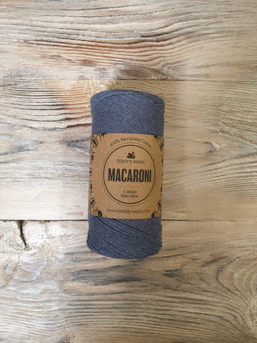 Macaroni Cotton Macrame - כחול ג'ינס