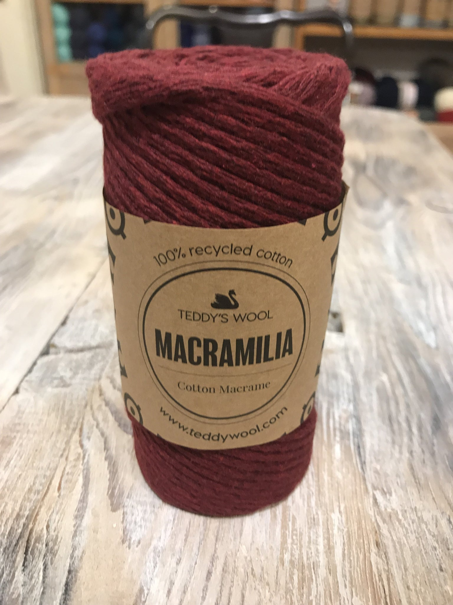 Macramilia Cotton Macrame - בורדו
