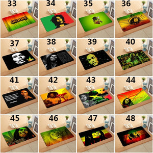 40x60 cm Vintage Chic Crazy Music Fans I Love Reggae Africa Rasta Lion Bob Marley Reggae Music Design Home  Decoration Watercolor Door Mats Water-absorb Floor Bath Mat Toilet Room Anti-slip Mat