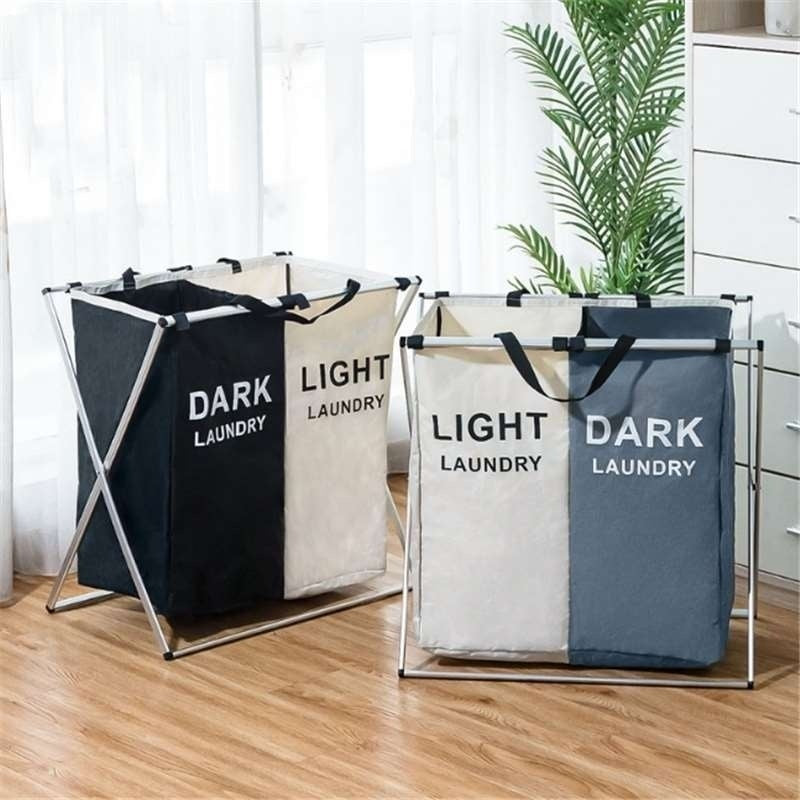 Dirty Clothes Laundry Storage Basket 2-3 Grid Organizer Basket Bathroom Laundry Hamper Home Accessories