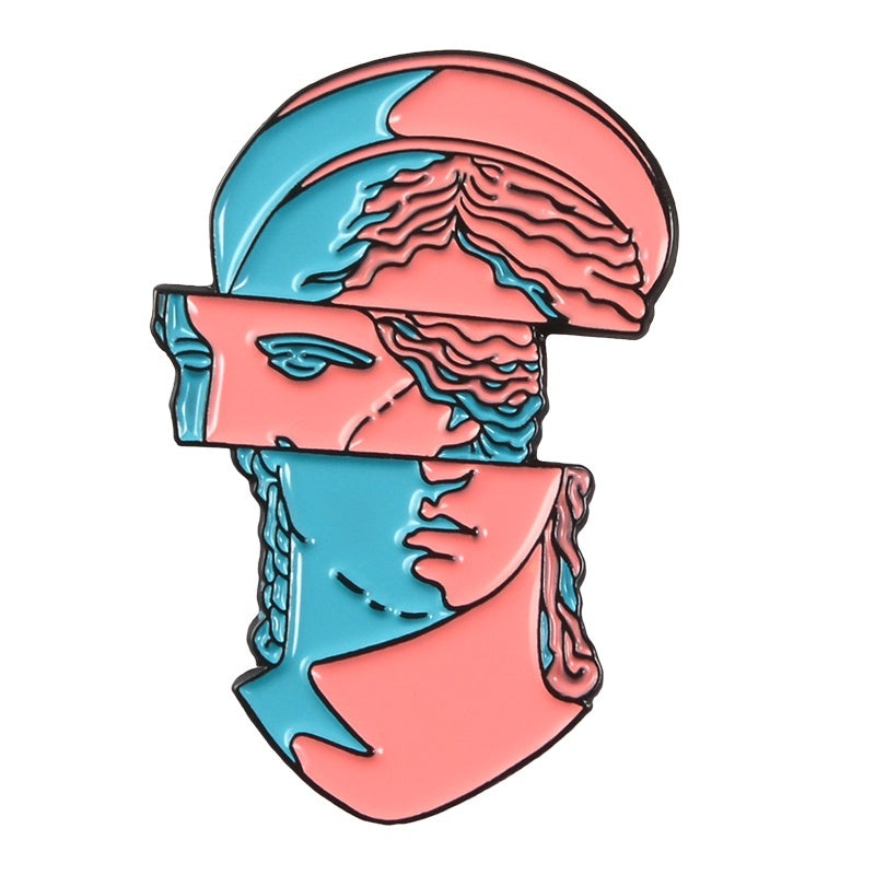 Aesthetic David Statue Series Enamel Pin Avatar Mixing Anime SpongeBob Brooch Vaporwave Art Lapel Pins Badge