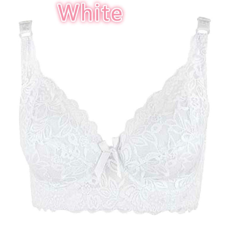 Women's Gather Underwear Lace Thin Cotton Large Size Cup Bra