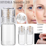 Hydra 20 Titanium Microneedle Applicator Bottle Reusable Derma Stamp Roller Mesotherapy Christmas SOS MYD