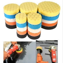 将图片加载到图库查看器,5pcs Car Sponge Polishing Buffing Waxing Pad Kit Tool polishing pad set Drill for Car Polisher Buffer Wheel Kit 3' 5' 6'