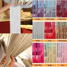 将图片加载到图库查看器,200cm*100cm Fly Screen Foil Fringe Curtain Tassel Curtain String Sparkle Curtains Room Divider Door Window Decor