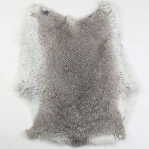 Rabbitfur skin cooked leather finished fur raw material 1PC