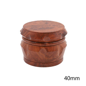 Tobacco Crusher With Cutting Blades 40 55 63MM Wood Zinc Alloy 4 Layer Grinder Herb Grinder