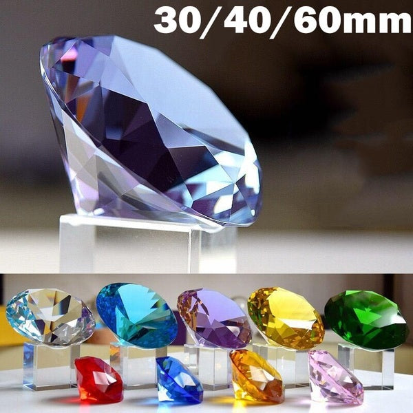 30mm - 60mm Transparent Shining Huge Crystal Rhinestone Diamond Pendant Party Wedding Decoration