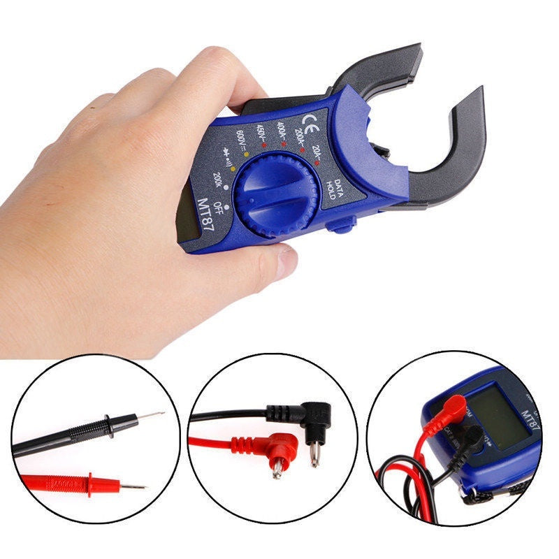 1 Pc MT87 Digital Multimeter Amper Clamp Meter Current Clamp AC/DC Current Voltage Tester Test Tool