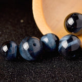 7A Natural Dark Blue Tiger Eye Beads DIY Jewelry Accessories Semi-finished Bracelet Fashion Jewelry Necklace Manufacture