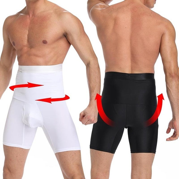 Men Tummy Control Shorts Compression Shaper Briefs High Waist Slimming Underwear Body Shaper Seamless Belly Boxer Briefsefs