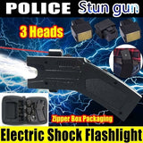 2019 New Women's Self-defense Tools Remote Distance Electric Shock Self-defense Outdoor Flashlight Multi-function Car Mini Electric Super High-voltage Self-defense Rechargeable Super Bright Supplies