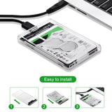 USB 3.0 2.5Inch SATA Hard Drive Enclosure Caddy Case For External HDD/SSD