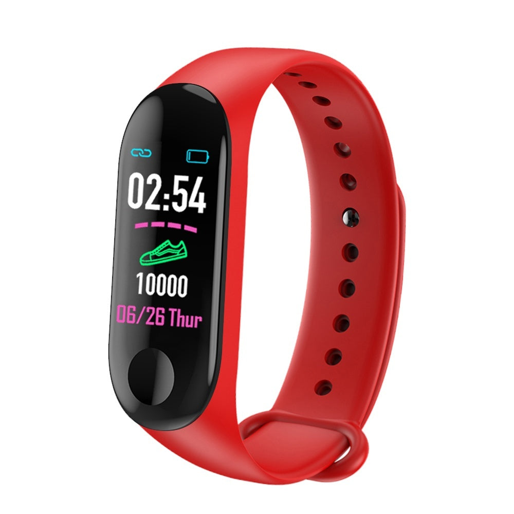 M3 Plus Smart Bluetooth Sports Bracelet Heart Rate Blood Pressure Monitor Fitness Tracker Smart Band