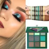 5 Style 9 Colors Cmaadu Shimmer Glitter Eyeshadow Palette Charming Women Matte Eyeshadow Palette Smoky Eye Makeup Tools