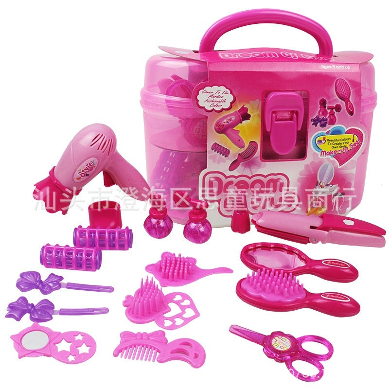 Girls' toys, children's jewelry simulation dressing toy set, handbag suitcase makeup toys