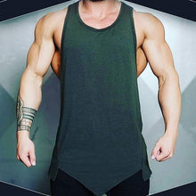 将图片加载到图库查看器,Men Fashion Sports Fitness Tank Tops Solid Color Sleeveless T-shirt Casual Gym Bodybuilding Vest Tops