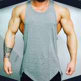 Men Fashion Sports Fitness Tank Tops Solid Color Sleeveless T-shirt Casual Gym Bodybuilding Vest Tops