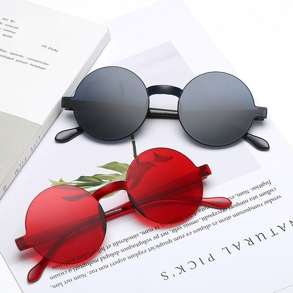 Classic Round Sunglasses for Women Men Vintage Fashion Steampunk Plastic Glasses