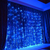 9.84x9.84ft /3Mx3M 300-LED White/Warm White/Multicolor/Blue Light Romantic Christmas Wedding Outdoor & Indoor  Decoration Curtain String Light