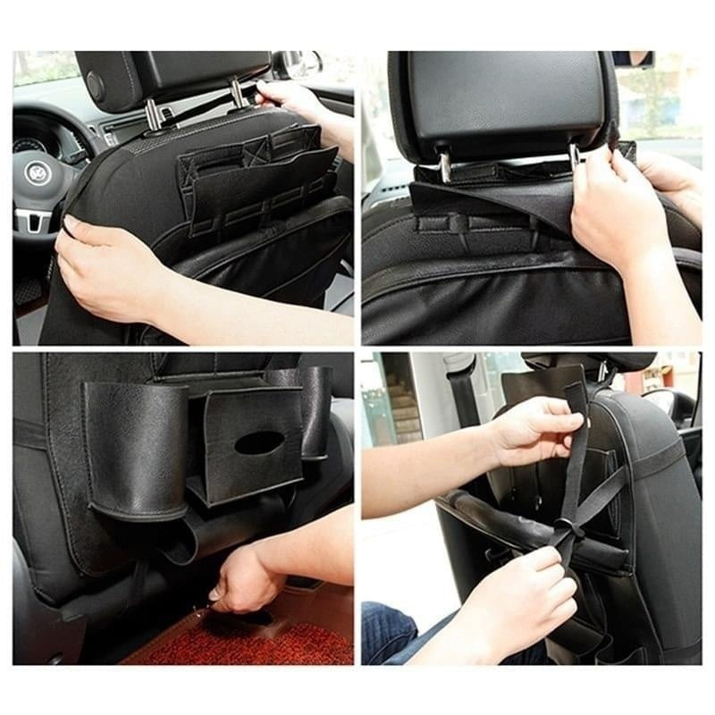 Car Seat Back Bag Organizer Storage Travel Multifunction Pocket Stowing Tidying Auto Accessories 2 Styles