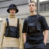 Chest Rig Waist Bag Hip Hop Streetwear Functional Tactical Chest Bag Cross Shoulder Bags Hip Hop Bolso West