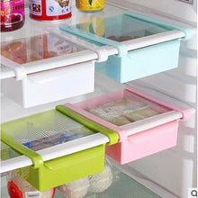 将图片加载到图库查看器,Table Useful Fridge Durable Kitchen Refrigerator Organizer Storage Rack Freezer Space Saver Shelf Holder