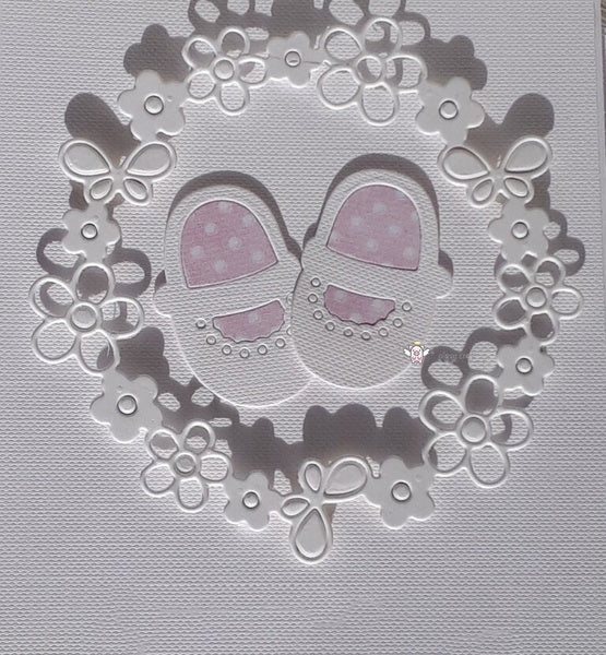 New Crafts Metal Steel Cutting Dies New Baby shoes flower ring Stencil For DIY Scrapbooking Paper/photo Cards Embossing Dies