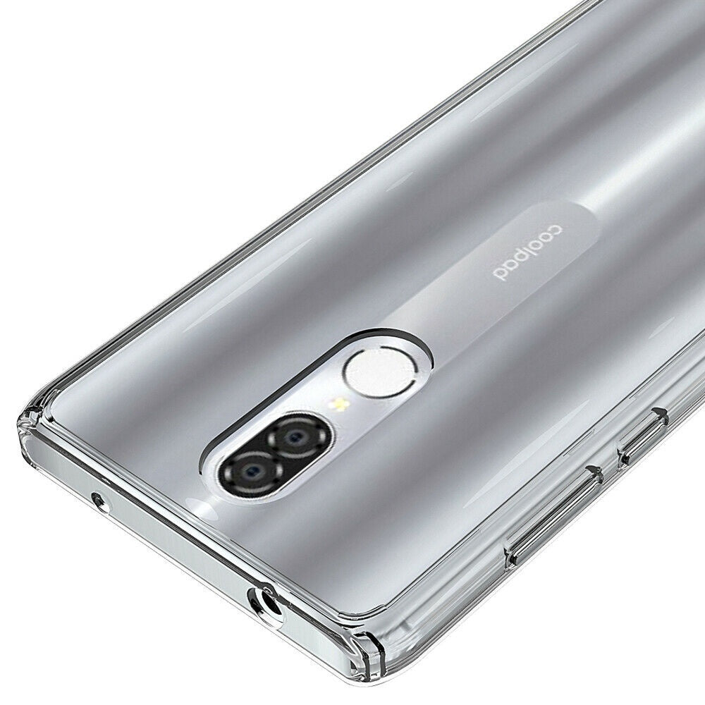 For Coolpad Legacy Case Crystal Clear Hard Defender Shockproof Soft TPU Bumper Protective Cover