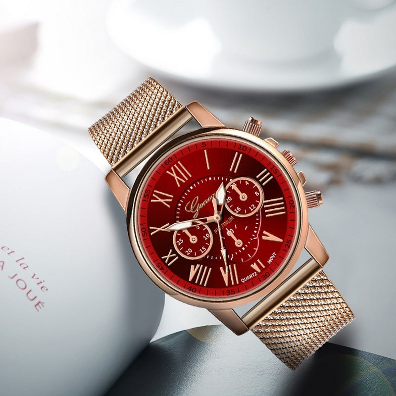 Christmas gift Geneva watch fashion ladies watch simple watch analog quartz watch clock ladies quartz watch