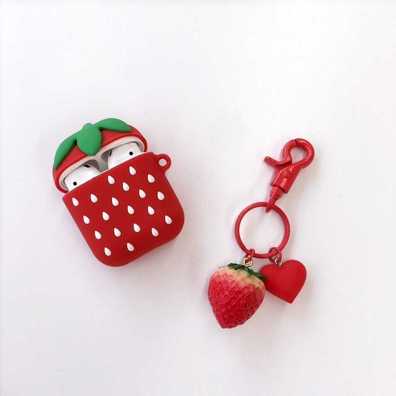 Fashion 3D Cute Cactus Carrot Silicone Case for Apple Airpods Cover Novelty Silicone Cases Bluetooth Earphone Protective Airpods Finger Ring Charging Box Cover