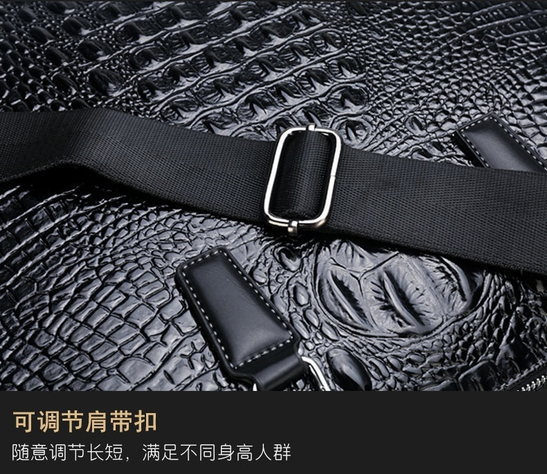 New Crocodile Men's Briefcase Fashion Business Bag Wear Casual Portable Men's Bag Multi-function Laptop Bag