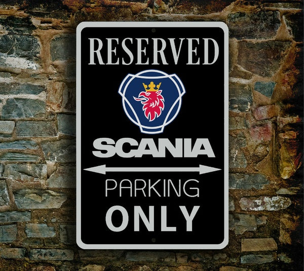 Scania Parking Sign Scania Man Cave Garage Workshop Scania Signs