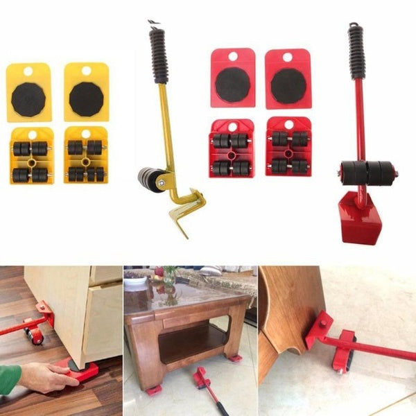 Furniture Lifter Easy Moving Sliders 5 Packs Mover Tool Set Lifting System