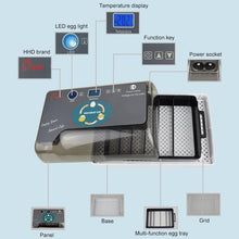 将图片加载到图库查看器,Portable Household Automatic Hatching Incubator Digital Temperature Control With LED Light For Home Use