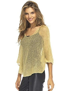 Women's Fashion Sheer Poncho Shrug Bolero Lightweight Summer Shrug Pullover Knit Sweater Blouse Top Plus Size S-5XL