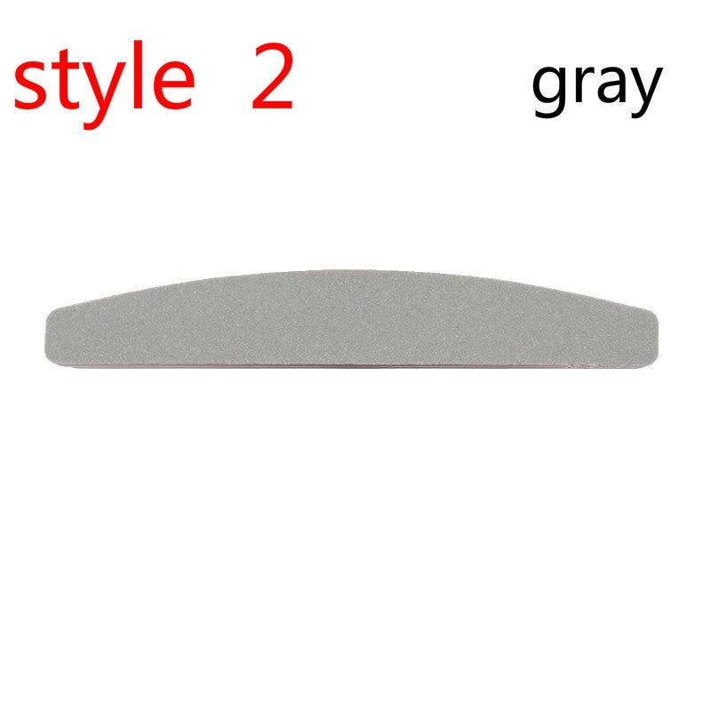 5/10Pcs Professional Nail File  100/180 Half Moon Sandpaper Nail Sanding Blocks Grinding Polishing Manicure Care Tools