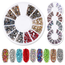 将图片加载到图库查看器,1 Box Nail Rhinestones Mixed Colors Glass Flat-back AB Crystal Strass 3D Charm Gems DIY Manicure Nail Art